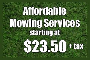lawn mowing flower mound